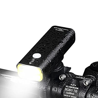 LED fahrradbeleuchtung, Super Helle LED USB Wiederaufladbare Fahrrad Licht Fahrrad Frontlicht Scheinwerfer Taschenlampe, Einfache Installation für Radfahren BL05