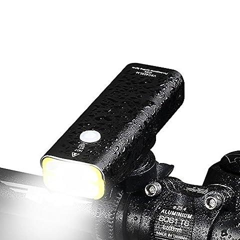 LED fahrradbeleuchtung, Super Helle LED USB Bike Light Wiederaufladbare Fahrrad Licht Fahrrad Frontlicht Scheinwerfer Taschenlampe, Einfache Installation für Radfahren BL05