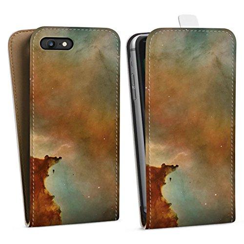 Apple iPhone X Silikon Hülle Case Schutzhülle Galaxy Carina Nebel Muster Downflip Tasche weiß