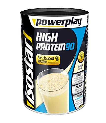 Isostar Powerplay High Protein 90 Vanille 750g, 1er Pack (1 x 750 g) (Verdauliches Eiweiß)