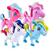 German Trendseller Aufblasbares Pony XL ┃ Regenbogen ┃ 50 cm ┃ Kindergeburtstag ┃ Party Dekoration