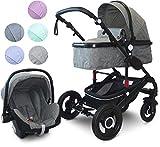 VCM Kombi - Kinderwagen, Babywagen 2in1 oder 3in1'VCK Kidax'