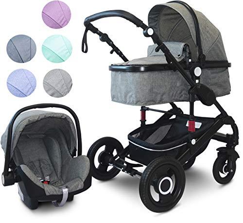 """VCM Kombi - Kinderwagen, Babywagen 2in1 oder 3in1\""""VCK Kidax\"""" 2in1 - ohne Babyschale: Marine"""