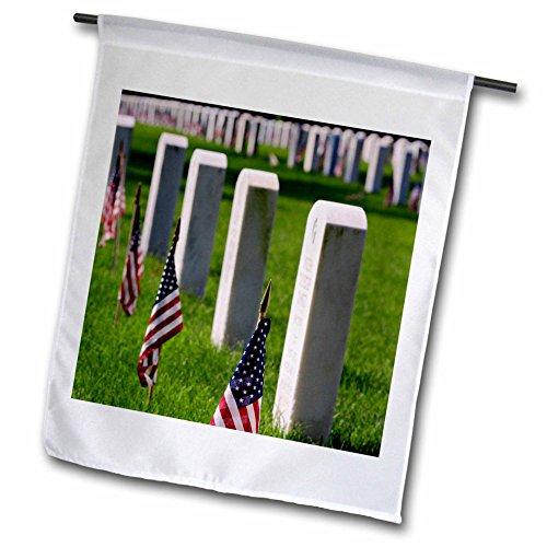 3dRose FL_90349_1 Veteran Gräber National Cemetery Louisville Kentucky - Us18 Aje0236 - Adam Jones Gartenflagge, 30,5 x 45,7 cm (Adam Decke)