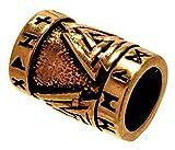 Bartperle Lockenperle Bronze Wotansknoten 7mm