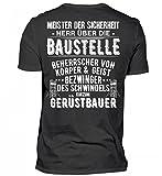 Hochwertiges Herren Shirt - Gerüstbauer - Bezwinger des Schwindels - Gerüstbau - Geschenkidee - Geschenk - Gerüster