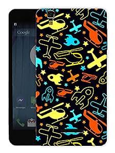 "Humor Gang Airplane Love Doodle Printed Designer Mobile Back Cover For ""Yu Yureka"" (3D, Matte Finish, Premium Quality, Protective Snap On Slim Hard Phone Case, Multi Color)"