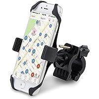 Alfort Soporte Móvil para Bicicletas Soporte de Bicicleta para teléfonos y GPS Ajustable Sostenedor del teléfono para iPhone/Samsung Galaxy/Huawei/Sony y Otros Teléfonos Móviles (3.5-6'') Negro