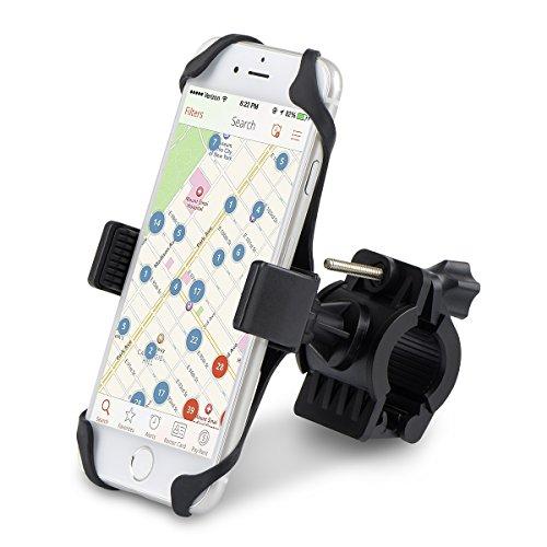 Handyhalterung Fahrrad, Alfort Handy Halterung Universal Auto Autohalterung für Smartphones bis 6,0 Zoll, Kann auf Fahrrad, mtb, Motorrad, Elektrisches Auto, Spaziergänger (Schwarz)