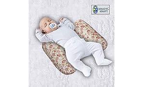 Kradyl Kroft Adjustable Baby Side Pillows (0-3 Months Plus, OrangeBloom)