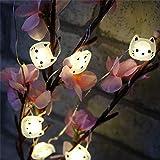AAC 20LED Katzen-Lichterkette mit Kupferdraht für Weihnachten, Hochzeit, Party, Zuhause, Dekoration, batteriebetrieben