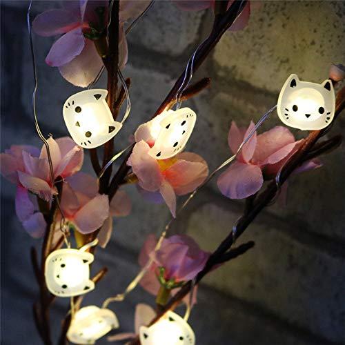 AAC 20LED Katzen-Lichterkette mit Kupferdraht für Weihnachten, Hochzeit, Party, Zuhause, Dekoration, batteriebetrieben -
