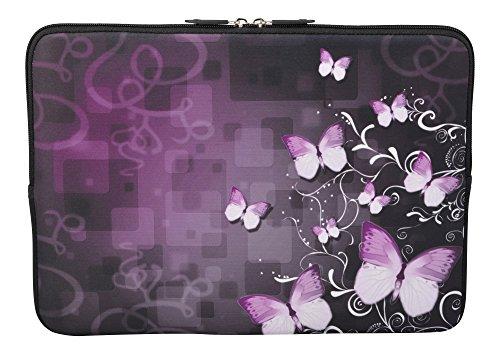 MySleeveDesign Laptoptasche Notebooktasche Sleeve für 10,2 Zoll / 11,6-12,1 Zoll / 13,3 Zoll / 14 Zoll / 15,6 Zoll / 17,3 Zoll - Neopren Schutzhülle mit VERSCH. Designs - Butterfly Fusion [11-12] -