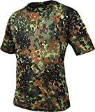 normani Bundeswehr Tropen T-Shirt mit Deutschlandfahnen und Klettstreifen Farbe Flecktarn Größe 5