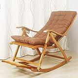 Schaukelstühle Bambus Chaiselongues Stuhl Verstellbare Faltbare Balkon Erwachsene Mittagspause Nickerchenlehne Rückenlehne Stuhl Freizeit Liege Faule Sonnenliege Außenstrand Liegestühle (Farbe: # 2)