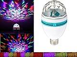 Lightahead® - Lampadina stroboscopica girevole a LED per palcoscenico, feste e discoteca, bar, cambia colore
