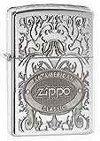Zippo Feuerzeug Gleaming Patina, Chrom hochglanzpoliert