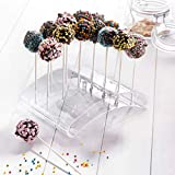 Questquo Lollipops Holder Plastic Stand Display 20 Holes Transparent Shaft Support Cake Pop Stand Acrylic