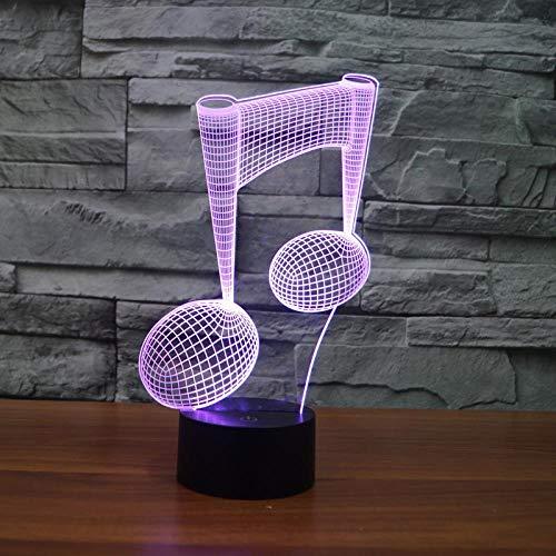(HLDWMX) 3D nachtlicht farbe beleuchtung instrument lampe notebook dekoration musik enthusiast LED touch + fernbedienung 7 farbe nachtlicht