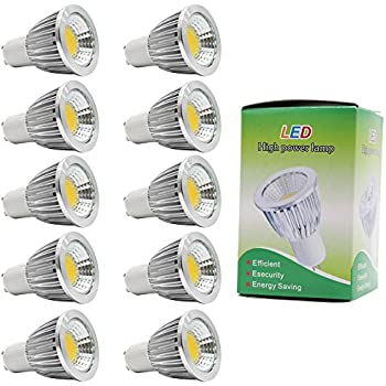 10X GU10 Bulbo Llevado 5W Super Brillante LED de Bombillas COB LED Light Bulb Blanco Cálido 3000K AC85-265V