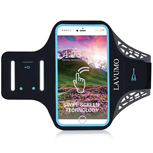 Handytasche Sport iphone X 6 Plus 7 Plus 8 Plus Sportarmband Handyhülle LAVUMO Running Armband für Samsung Galaxy S8 S9 S7/S6/S6 Edge/S7 edge/S5/S9 plus joggen Laufen Gym Armtasche Wasserfeste Schlüsseltasche - Phone I Handys Entsperrt
