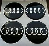 Audi ★4 Stück★ 65mm Aufkleber Emblem für Felgen Nabendeckel Radkappen