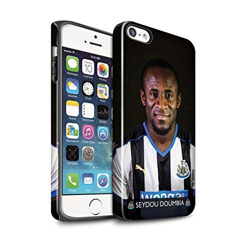 Offiziell Newcastle United FC Hülle / Glanz Harten Stoßfest Case für Apple iPhone SE / Pack 25pcs Muster / NUFC Fussballspieler 15/16 Kollektion Doumbia