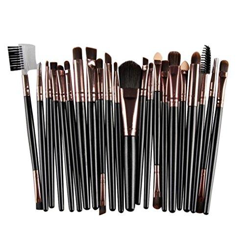 SHOBDW Pinceaux Maquillage Cosmétique Professionnel Cosmétique Brush Beauté Maquillage Brosse Makeup Brushes Cosmétique Fondation avec Sac Abordable, 22pcs Set/Kit Noir (Noir)