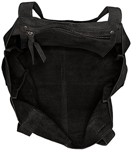 Bianco Suede Shopper Jfm17, sac bandoulière Noir