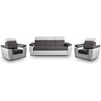 mb-moebel Polstergarnitur Sofa Set 3er & 1er Wohnlandschaft 3-Sitzer ...