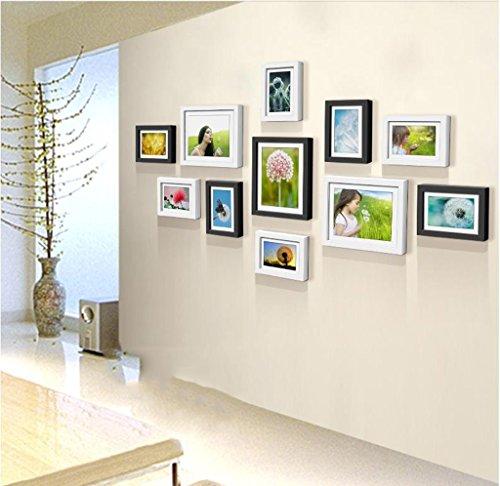 Home @ Wall Bilderrahmen Massivholzrahmen Wandaufkleber Kreative Wohnzimmer Esszimmer Schlafzimmer Kombination ( Farbe : B , größe : 145*76CM )