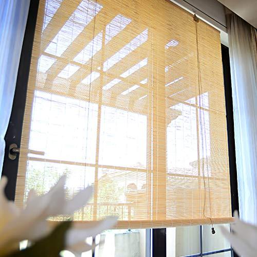 Bambus Jalousien, Bambus Jalousie Mit Schnur, Sonnenschutz Sonnenschirm Hand Bambus Rollo, Einfache Und Mode Bambus Jalousien FüR Restaurant/Balkon/Wohnzimmer Etc. (B1.4 × L1.6m) (Für Restaurants Jalousien)