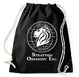 Stratton Oakmont Inc Börse Logo Turnbeutel, Aufdruck, schwarz