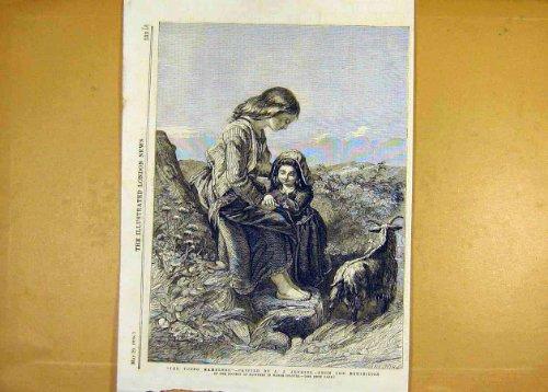 Druck-Malerei 1858 Jung-Wanderer Jenkins-Schöner Kunst