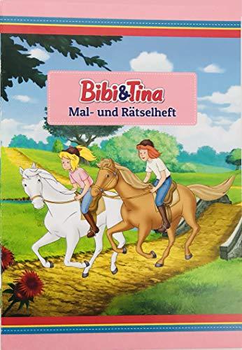 * BIBI & TINA * mit 12 Seiten in DIN A6   perfekt als Mitgebsel oder Geschenk   Malbuch Malen Malblock Kinder Pferde Pony Mädchen ()
