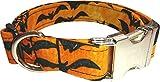 Dogcrafts Halloween-Hundehalsband mit Seitlichem Clip, mit silberfarbenem Metall, 38 x 58 cm