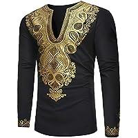 Herren Oberteile,TWBB Winter Luxus afrikanisch Gedruckt Pullover Sweatshirt Lange Ärmel Shirt