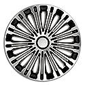4er Set Radkappen Radzierblenden Radabdeckungen Modell Volante Silber & Schwarz 16 Zoll