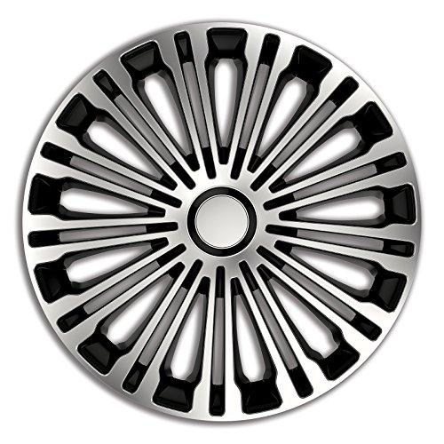 4pz-Copricerchi-Coppa-ruota-Coppe-borchie-Volante-Dargento-Nero-17-pollici