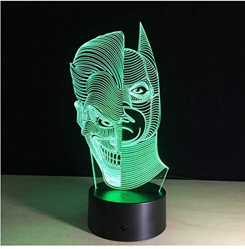 Kreative Ninja Turtle 3D Nachtlicht Zwei-Gesicht Led-Licht Kinder Wohnzimmer Tischlampe Led Bulbing Lampe Schmücken