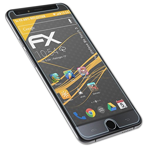 atFolix Panzerfolie kompatibel mit Ulefone Be Touch 3 Schutzfolie, entspiegelnde & stoßdämpfende FX Folie (3X)