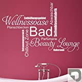 DESIGNSCAPE Wandtattoo Bad Wortwolke Schriften - Beauty Zone, Wellnessoase, Planschbecken,...