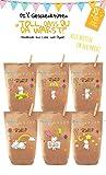 6x Einhorn Geschenktüten / Papiertüten liebevoll bedruckt aus Kraftpapier, zum Verpacken von Kinder Geschenken, Gastgeschenken, Mitgebsel, Giveaways, Kindergeburtstag, Hochzeit. 100% recyclebar!