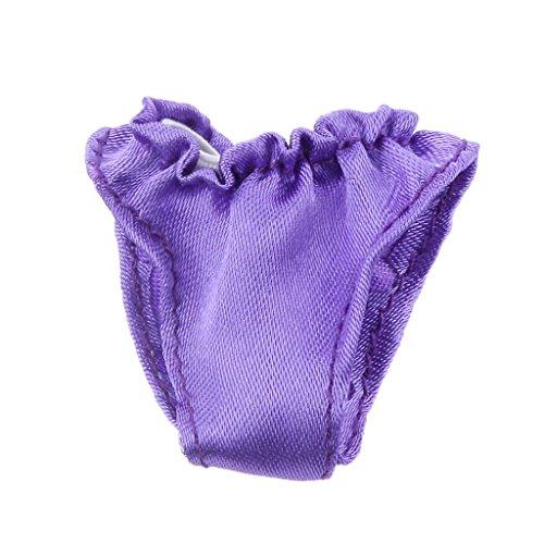 1:6 Puppen mini Unterwäsche Für Puppen Kleidung Blythe Puppenkleidung Zubehör - Lila, 4 x 3cm (Skipper-barbie-puppe Kleidung)