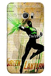Omnam Boy With Green Lantern Printed Designer Back Cover Case For HTC 10