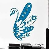 Adhesivos de pared Swan Bird Adorno en blanco y negro Tribal Mural Vinilo Adhesivo de pared para papel tapiz de dormitorio para guardería Habitación para niños Color-1 42x60cm