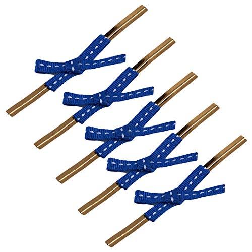Sperrins 20 Teile/los Nette Bowknot Gold Metallic Twist Krawatten Draht Für Cello Kuchen Lutscher Süßigkeiten Geschenk Taschen Abdichtung Party Dekoration Blau -