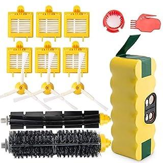 efluky kit remplacement pour iRobot Roomba série 700 720 750 760 765 770 772 772e 774 775 776 776p 780 782 782e 785 786 786p 790 (3.5Ah Batterie de remplacement avec Kit)