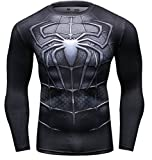 Cody Lundin Homme Spider Héros T-Shirt Collant Manches Longues, Sport Fitness Shirt (L, Noir)...
