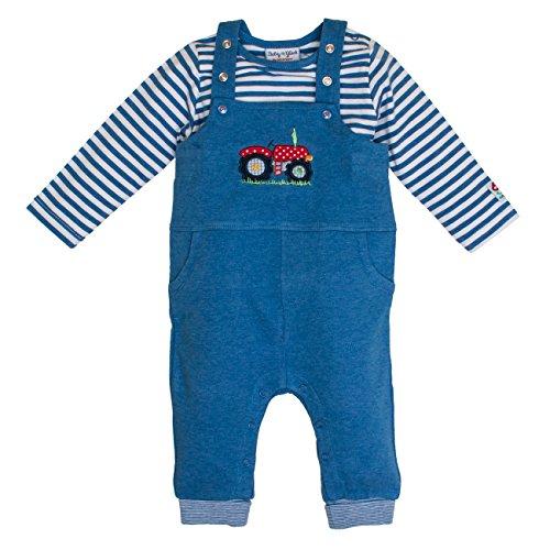SALT AND PEPPER Baby-Jungen Strampler BG Dungarees Uni, Blau (Blue Melange 455), 56